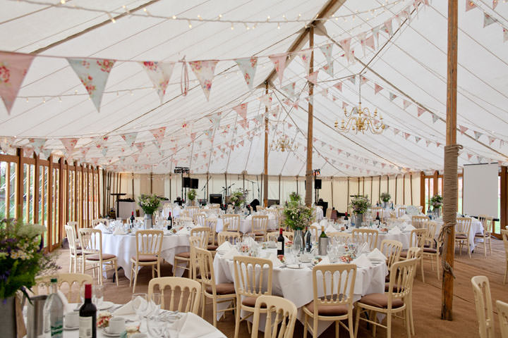 Festival wedding marquee idea