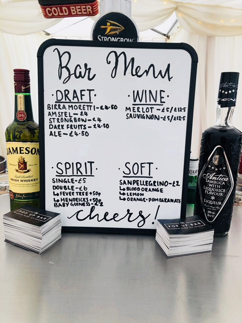 Wedding Bar Menu Ideas