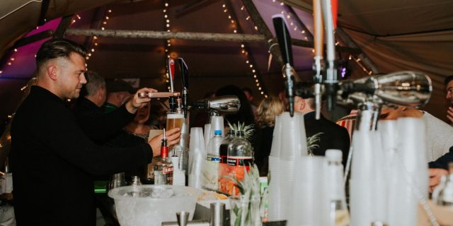 image of pint pouring at pop up bar
